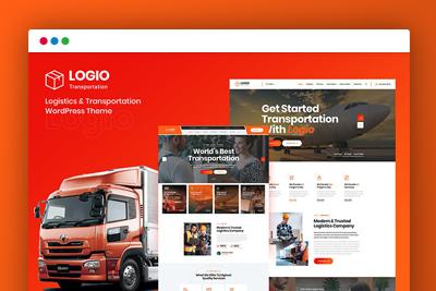 【WP运输企业模板】wordpress物流与运输Logio – Logistics & Transportation主题源码
