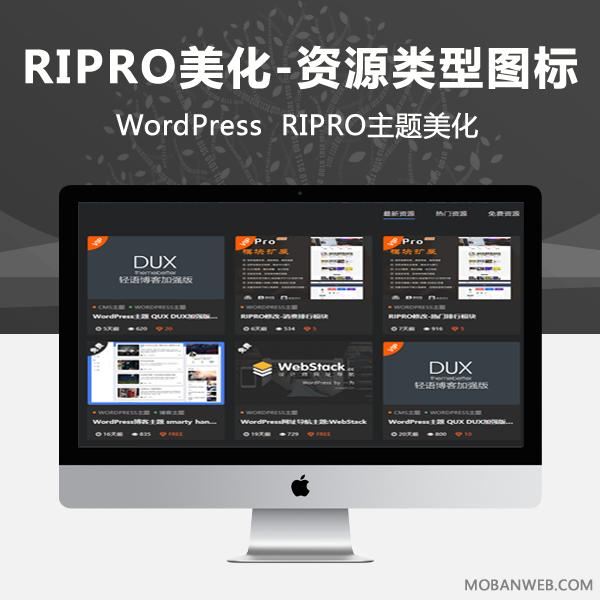 RIPRO主题美化-资源类型判断图标